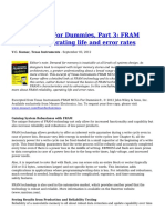 FRAM MCUs for Dummies Part 3 FRAM Reliability Operating Life and Error Rates