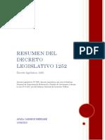 RESUMEN DEL Decreto Legislativo 1252