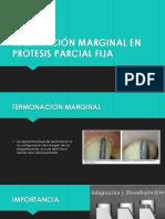 Terminación Marginal en Protesis Parcial Fija