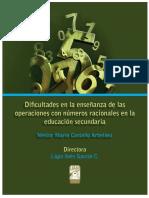 Dificultades en la enseñanza de las operaciones con números racionales en la educación secundaria
