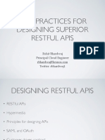 15 Best Practices for Restful APIs