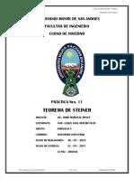 Inf. Practica 11 - Teorema de Steiner