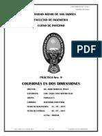 Inf. Practica 9 - Colisiones en Dos Dimensiones