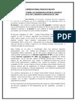 Foro Derecho Penal Privativo Militar