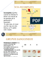 Dominancia Intermedia y Codominancia