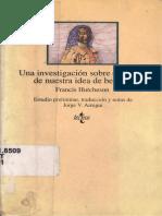 Hutcheson, Francis - Una Investigación Sobre El Origen de Nuestra Idea de Belleza