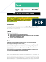 Policies Procedures Policy 2015