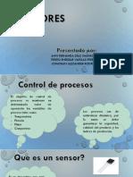 Sensores usados para el control de procesos
