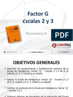 Factor g Escalas 2 3