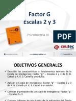 Factor g Escalas 2 3
