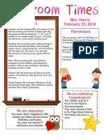 february 23 newsletter