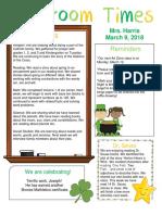 march 9 newsletter