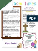 march 23 newsletter