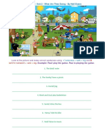What Are They Doing Picture Description Exercises Worksheet Templates 105516