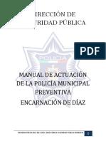 Manual de Operacion y Procedimientos Seguridad Publica