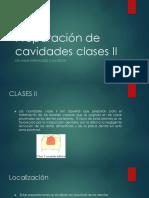 Preparación de Cavidades Clases II