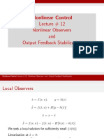 Lecture_12 Nonlinear Observers and Output Feedback Stabilization