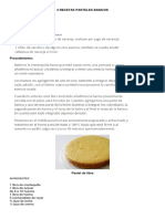 4 Recetas Pasteles Basicos
