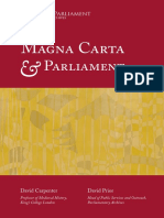 David CARPENTER y David PRIOR. Magna Carta & Parliament