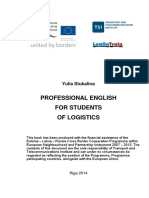 Professional English for Students of Logistics