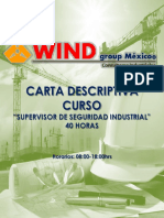 Carta Descriptiva Supervisor de Seguridad Industrial