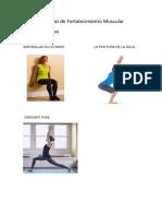 Ejercicios de Fortalecimiento Muscular