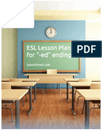 Esl Lesson Plan for Ed Ending