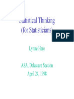 Statistical Thinking for Statisticians