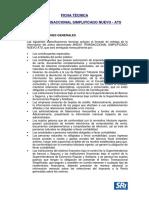 Ficha Tecnica Transaccional Simplificado ATS