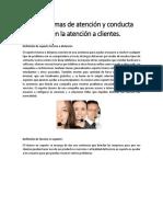Reglas y Normas de Atención y Conducta Aplicables en La Atención a Clientes y Usuarios de Un Servicio de Soporte Técnico a Distancia.