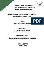 Lordosis - Escoliosis