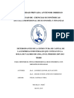 Alva Costa Determinantes Estructura Capital