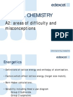 A2 Chemistry Areas of Difficulty Misconceptions