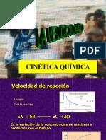 Cinética  quimica en reacciones