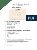 Prueba de Diagnóstico de Lenguaje 4.0