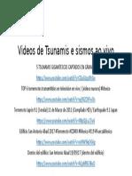 Videos de Tsunamis e sismos ao vivo.pptx