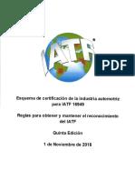 REGLAS PARA OBTENER Y MANTENER IATF 2016 español