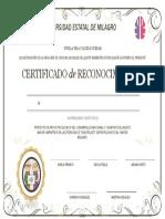 Certificado de Reconocimiento ABUELITOS..