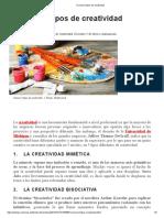Conoce 5 Tipos de Creatividad