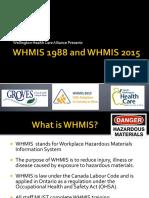 Whmis 1988 and Whmis 2015 Whca