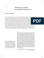 Deliberative Democracy as Open Not Just