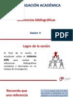 Sesión 11 - Referencias Bibliográfica