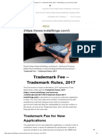 Trademark Fee - Trademark Rules, 2017 - IndiaFilings.com _ Learning Center