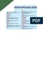 FERIADOS 2018