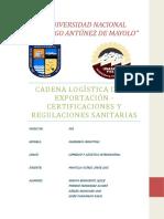 Cadena Logistica de La Exportación - Certificaciones y Regulaciones