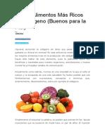 Los 11 Alimentos Más Ricos en Colágeno