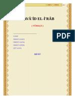 KAVÂ'ID EL-I'RÂB