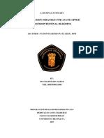 Summary Journal Transfusion Strategies for Acute Upper Gastrointestinal - Akbar - Copy (2)