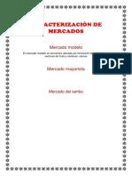 Caracterización de Mercados