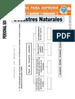 Ficha de Desastres Naturales Para Segundo de Primaria